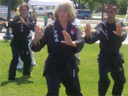Students practicing Tai Chi